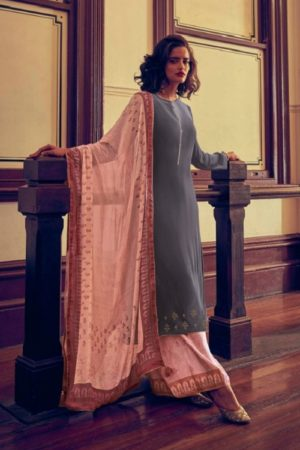 Varsha Fashions The Signature Collection Pure Tussar Silk With Cording Work Salwar suits sc-26