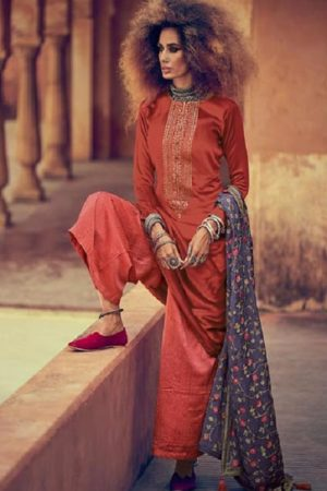 Varsha Fastion Mehreen Pure Tusser Silk With Carding Embroidery Salwar Suit mr-11