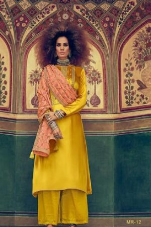 Varsha Fastion Mehreen Pure Tusser Silk With Carding Embroidery Salwar Suit mr-12