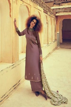 Varsha Fastion Mehreen Pure Tusser Silk With Carding Embroidery Salwar Suit mr-14