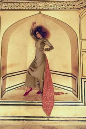 Varsha Fastion Mehreen Pure Tusser Silk With Carding Embroidery Salwar Suit mr-18