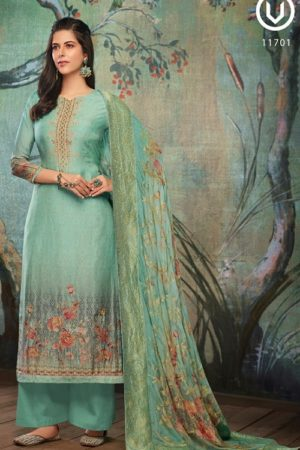 Vivek Fashion Roma Vol 2 Pure Maslin Digital Print with Embroidery Salwar Suit 11701