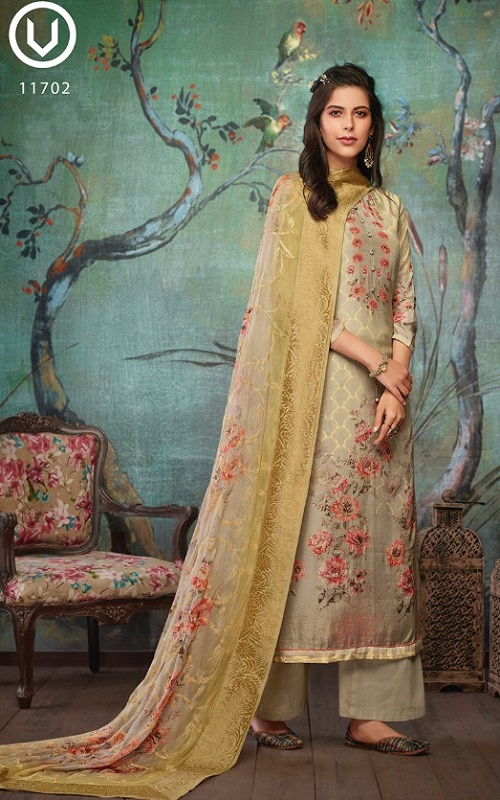 Vivek Fashion Roma Vol 2 Pure Maslin Digital Print with Embroidery Salwar Suit 11702