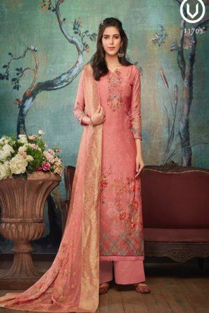 Vivek Fashion Roma Vol 2 Pure Maslin Digital Print with Embroidery Salwar Suit 11703