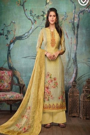 Vivek Fashion Roma Vol 2 Pure Maslin Digital Print with Embroidery Salwar Suit 11704