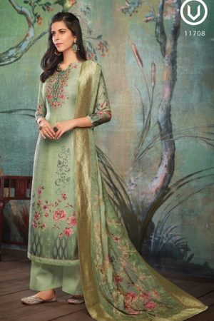 Vivek Fashion Roma Vol 2 Pure Maslin Digital Print with Embroidery Salwar Suit 11708