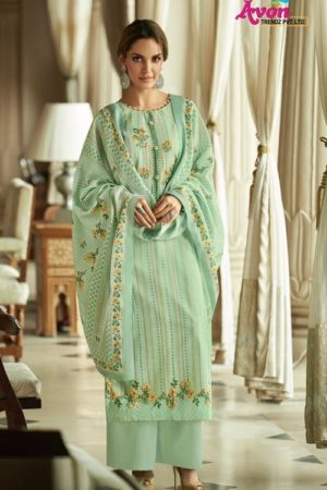Avon Presents Falak 2 Cotton Satin With Embroidery Summer Collection Designer Suit 112