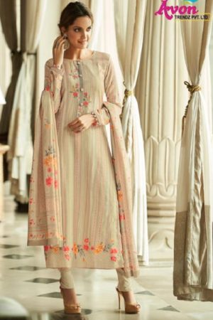 Avon Presents Falak 2 Cotton Satin With Embroidery Summer Collection Designer Suit 113