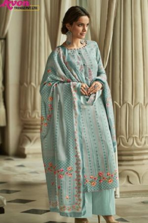Avon Presents Falak 2 Cotton Satin With Embroidery Summer Collection Designer Suit 116