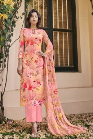 Belliza Designer Studio Presents Isabelle Pure Cotton Digital Print With Heavy Embroidery Ladies Suit 252-009