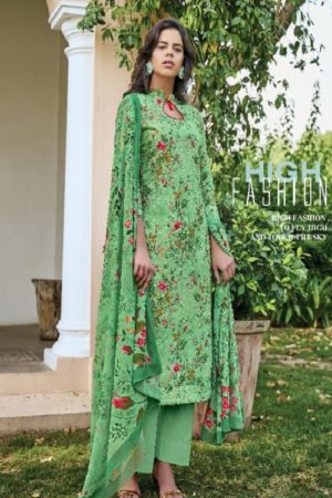 Belliza Designer Studio Presents Isabelle Pure Cotton Digital Print With Heavy Embroidery Ladies Suit 252-010