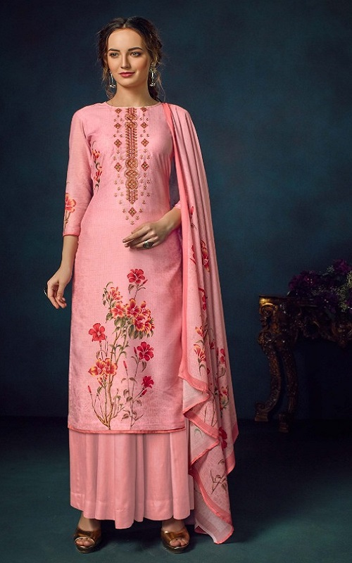 Belliza Designer Studio Presents Ziyaa Pure Cotton Muslin Printed Unstiched Boutique Style Suit 611-002