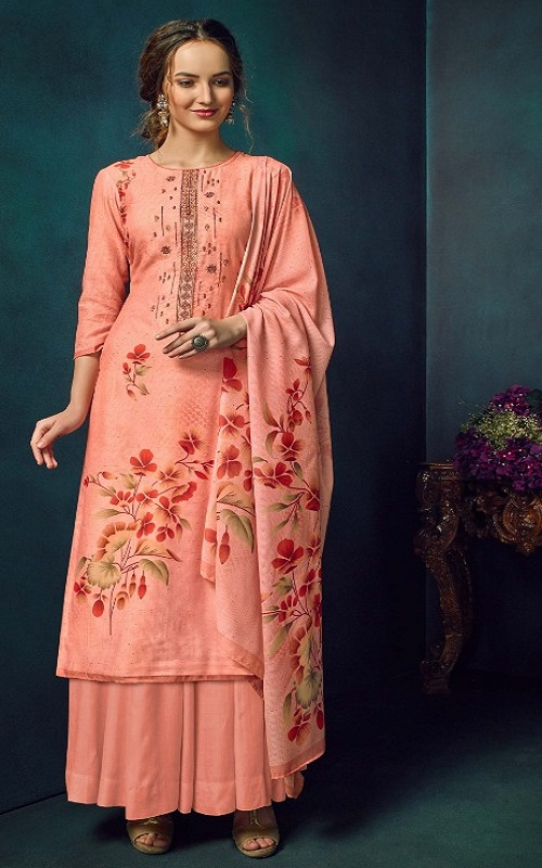 Belliza Designer Studio Presents Ziyaa Pure Cotton Muslin Printed Unstiched Boutique Style Suit 611-006