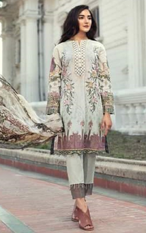 Buy Saaniya Trendz Presents Iris Lawan 2019 Jam Cotton Satin With Digital Printed Embroidery Suits 2006