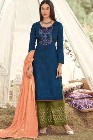 Deepsy Gujarish Jaam Cotton Print With Heavy Self Embroidery Salwar Suit 5103