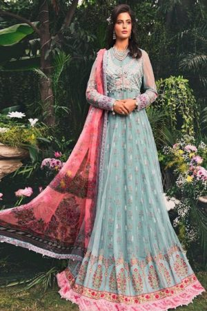Deepsy Presents Maria B Pure Cotton Print Embroidery Pakistani Replica Suit 434