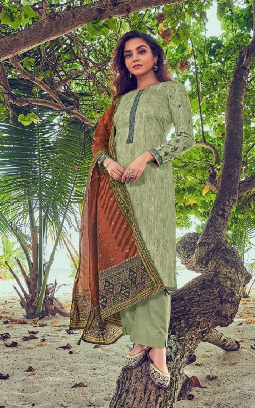 Deepsy Suits Presents Panghat 8 Pure Jam Cotton Print With Heavy Self Embroidered Salwar Suit 62006