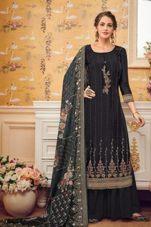 Eba Lifestyle Presents Hurma 28 Pure Viscose Chinon Sequence Embroidery Work Salwar Suit 1151