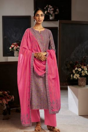Ganga Fashion Presents Eydis Pure Kora Silk Printed Silk Salwar Kameez Collection C0134