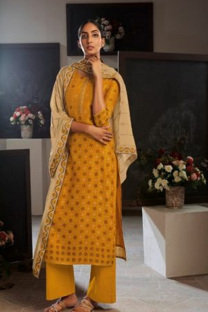 Ganga Fashion Presents Eydis Pure Kora Silk Printed Silk Salwar Kameez Collection C0138