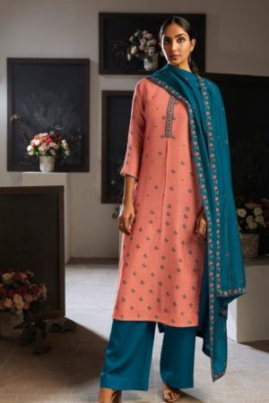 Ganga Fashion Presents Eydis Pure Kora Silk Printed Silk Salwar Kameez Collection C0139