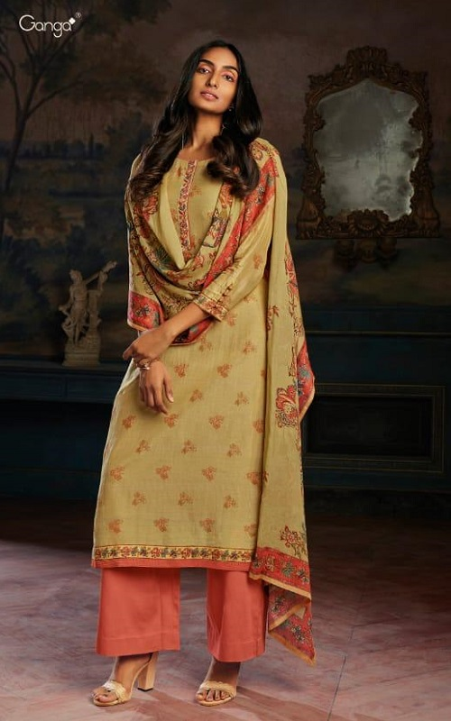 Ganga Fashions Presents Asav Pure Bemberg Summer Silk Digital Printed Salwar Suit C0103