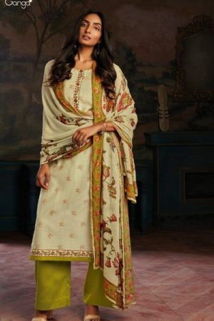 Ganga Fashions Presents Asav Pure Bemberg Summer Silk Digital Printed Salwar Suit C0104