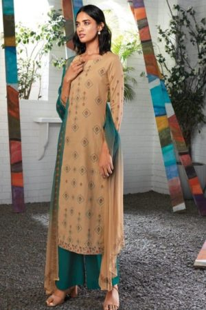 Ganga Fashions Presents Seraphina Pure Cotton Voile Digital Printed Embroidered work Salwar Suit C0154