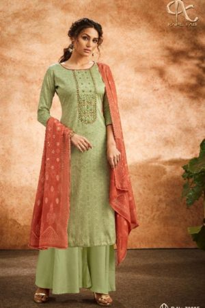 Kapil Fab Presents Divaa Jam Cotton Print With Heavy Self Embroidery Salwar Suit 70005