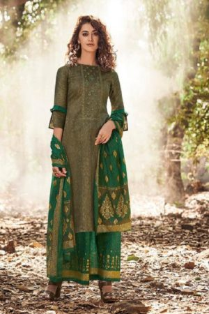 Karva Designer Studio Presents Norah Pure Jam Silk Cotton Print With Embroidery Salwar Suit 24006