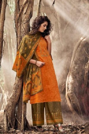 Karva Designer Studio Presents Norah Pure Jam Silk Cotton Print With Embroidery Salwar Suits 24004
