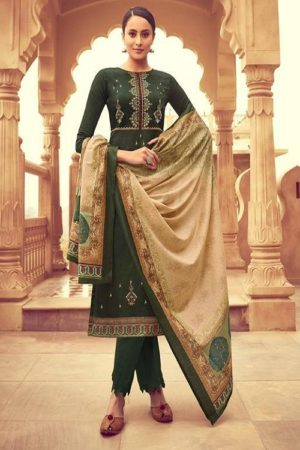 Mumtaz Arts Naitra Pure Jam Satin Digital Print With Designer Embroidery Salwar Suit 4002