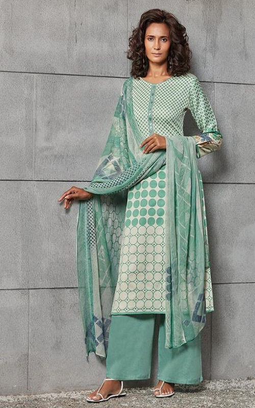 Omtex Namasya Cotton Satin Digital Print With Handwork Salwar Suit 1111