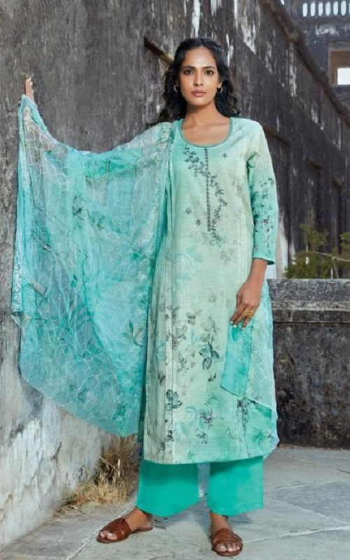 Omtex Presents Acira Rui Cotton With Embroidery designer Unstitched Ladies Salwar Suit 1173