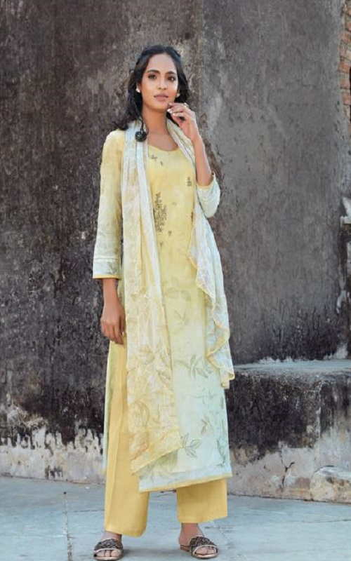Omtex Presents Acira Rui Cotton With Embroidery designer Unstitched Ladies Salwar Suits 1176