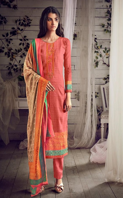PRM Trendz Presents Daisy Pure Jam Silk Digital Printed With Fancy Work Salwar Suit 3351