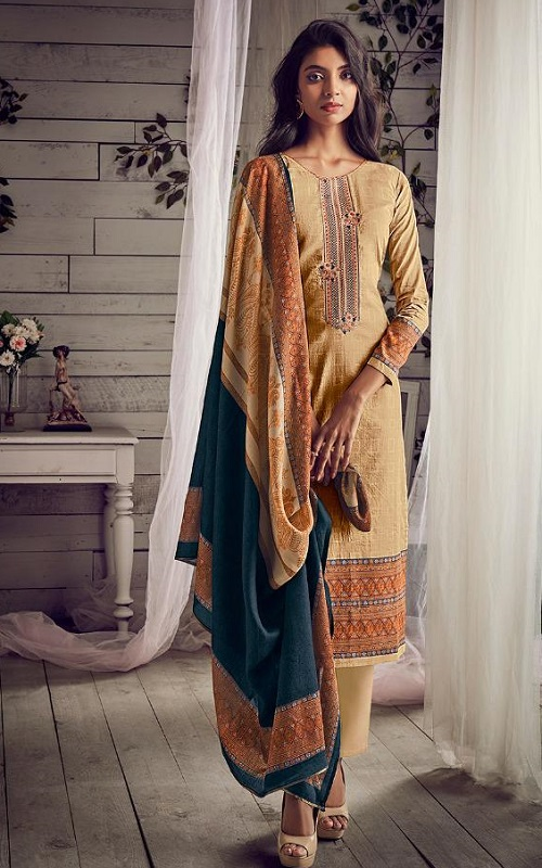 PRM Trendz Presents Daisy Pure Jam Silk Digital Printed With Fancy Work Salwar Suit 3359
