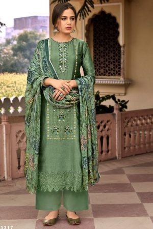 Prm Trendz Delicacy Pure Bemberg Russian Matka Silk With Embroidery Work salwar suit 3317