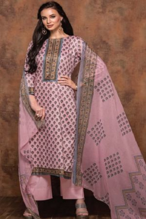 Rivaa Bansuri Presents Glace Cotton Printed Unstitched Ladies Salwar Kameez 1438 A