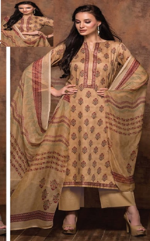 Rivaa Bansuri Presents Glace Cotton Printed Unstitched Ladies Salwar Suit 1439 B
