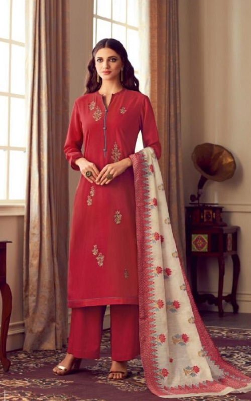 Sahiba Esta Designs Presents Nazm Dyed Cotton Silk With Hand Work Salwar Suit 101