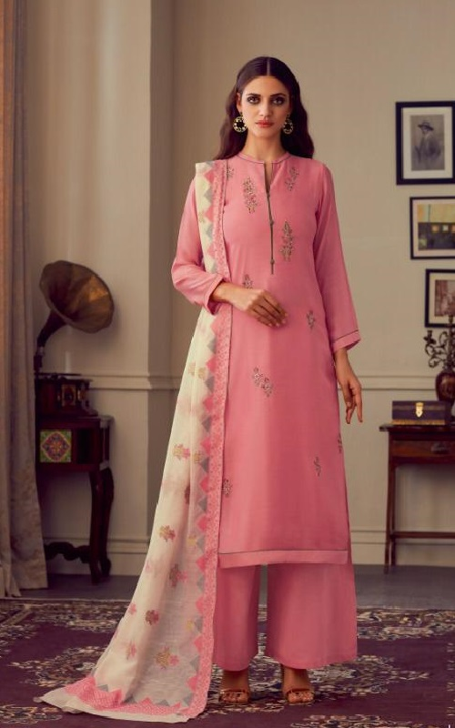 Sahiba Esta Designs Presents Nazm Dyed Cotton Silk With Hand Work Salwar Suits 105