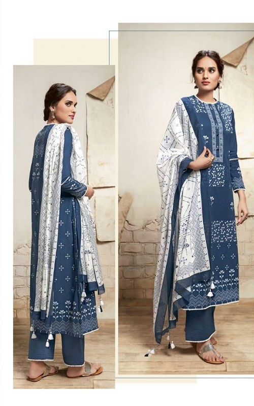 Sahiba Sarg Presents Nayyirah Pure Cotton Lawn Printed Ladies Unstitched Suit 380