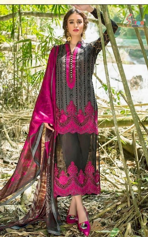 Shree Fabs Zainab Chottani Special Edition Pure Cotton With Exclusive Chikankari Embrodery Salwar Suit 7024