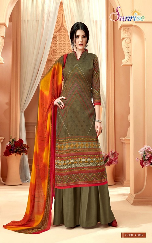 Sunrise Creation Simora-3 Glace Cotton With Designer Prints Salwar Suit 3005