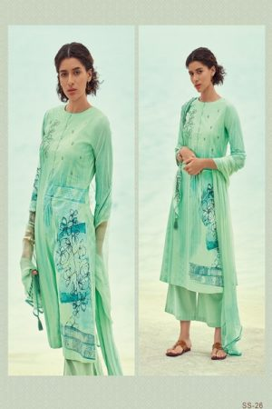 Varsha Fashions Sunshine Pure Cotton Printed With Embroidery Salwar Suit SS-26