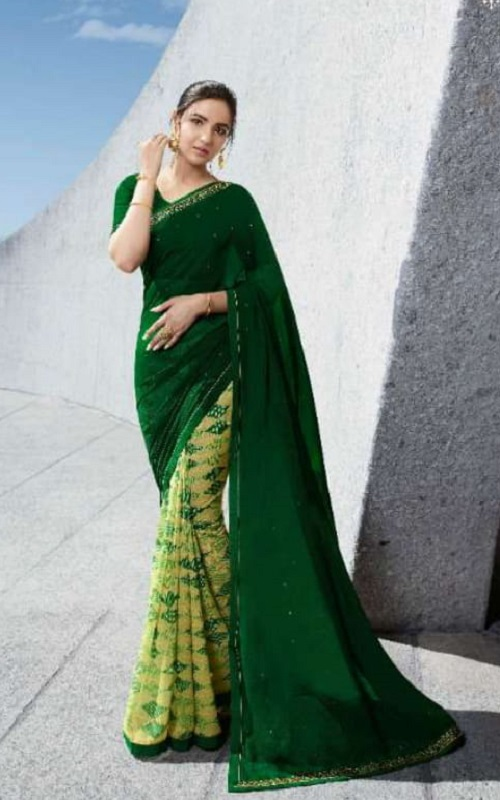 Vinay Fashion Presents Sheesha Starwalk 53 Georgette With Work Designer Saree 22385