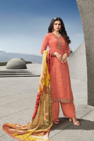 Vinay Fashion Presents Silkina Royal Crepe With Embroidery Designer Straight Suit 12306