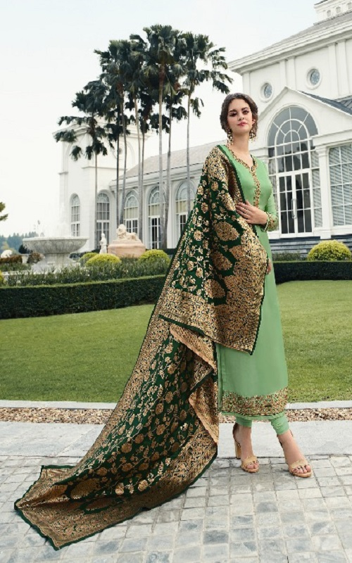 Zisa Banarsi 7 Georgette With Heavy Embroidery Salvar Suit 11543