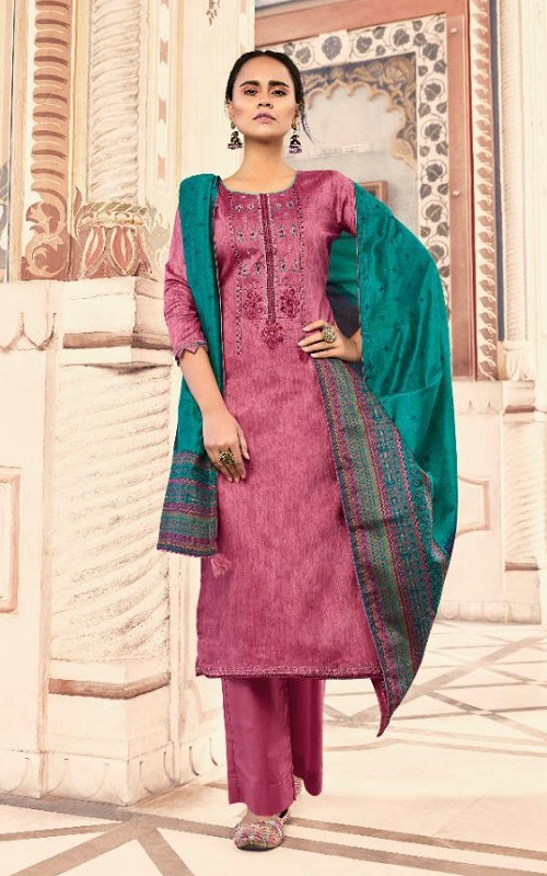 Deepsy Suits Presents Abstract Pure Jam Cotton printed with Self Embroidery Salwar Suit 65003